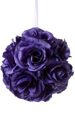 "5"" ROSE KISSING BALL PURPLE"