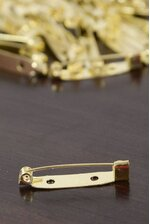 """1.25"""" FLAT BACK SAFETY PIN GOLD PKG/144"""