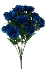 "18"" SILK CARNATION BUSH ROYAL BLUE"