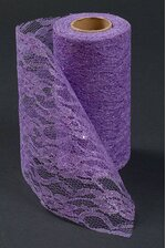 "6"" X 10YDS SPARKLE LACE ROLL LAVENDER"