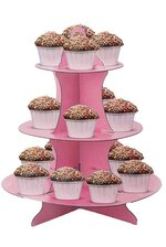 "11.75"" X 14"" CAKE STAND 3 TIER PINK"