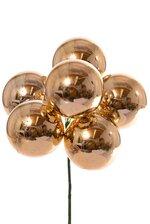 60MM PLASTIC SHINNY STEM BALL GOLD