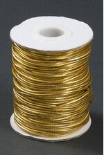 50YDS METALLIC ELASTIC CORD GOLD
