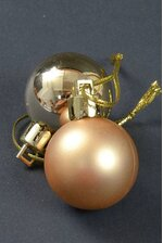 30MM SHINY & MATTE PLASTIC BALL ORNAMENT GOLD PKG/24