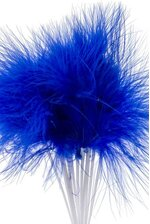 "7"" FEATHER PICKS ROYAL BLUE PKG/12"