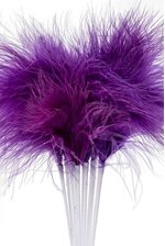 "7"" FEATHER PICKS PURPLE PKG/12"