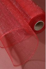 """21"""" X 10YDS DECORATIVE POLY MESH ROLL RED"""