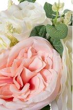 "14"" ROSE CABBAGE ROSE PINK/CREAM"
