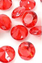 40MM ACRYLIC DIAMOND RED PKG/1LB