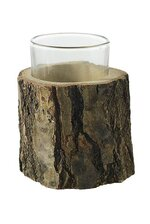 "2.75"" X 2.75"" OAK TEALIGHT HOLDER NATURAL"