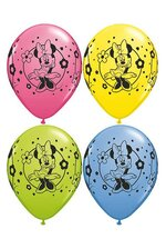 "11"" ROUND MINNIE MOUSE LATEX BALLOON ASSORT PKG/25"