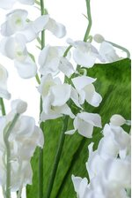 "16"" SILK LILY OF VALLEY BUSH WHITE"
