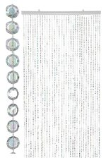 "36"" X 69"" OCTAGON BEADS CURTAIN (10MM) CLEAR"