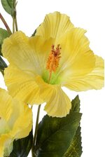 "31"" SILK HIBISCUS SPRAY W/BUD YELLOW"