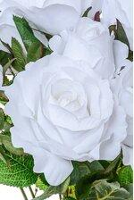 """19"""" ROSE BUD BUSH X10 WHITE"""