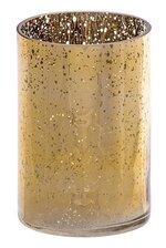 """4"""" X 6"""" MERCURY GLASS CYLINDER VASE GOLD"""