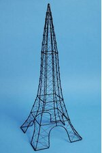 "24"" WIRE EIFFEL TOWER BLACK"
