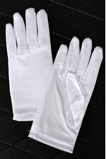 "7"" SATIN GLOVE WHITE"