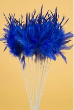 "20"" OWL FEATHER SPRAY ROYAL BLUE PKG/12"