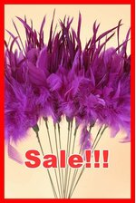 "14"" OWL FEATHER SPRAY PURPLE PKG/12"