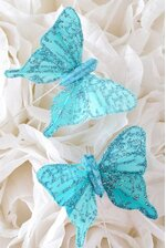 """2"""" BUTTERFLY TURQUOISE PKG/12"""