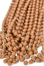 """33"""" PARTY BEADS BROWN PKG/12"""