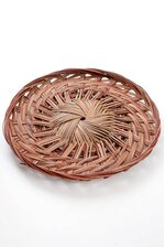 """12"""" X 1.25"""" ROUND TWO TONE PIZZA TRAY RED/BROWN"""