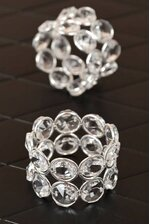 "2"" CRYSTAL NAPKIN RING PKG/6"