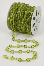 10YDS BEADED GARLAND ROLL GREEN