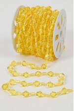 10YDS BEADED GARLAND ROLL YELLOW