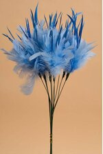 "14"" OWL FEATHER LIGHT BLUE PKG/12"