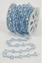 10YDS BEADED GARLAND ROLL LIGHT BLUE