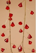 6FT PRISM GARLAND RED/GOLD
