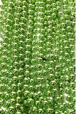 ROUND PARTY BEADS LIGHT GREEN PKG/12