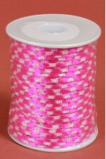 3MM X 50YDS KNOT CORD WHITE/FUCHSIA