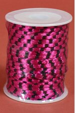 3MM X 50YDS KNOT CORD BLACK/FUCHSIA