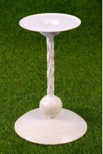 "7.5"" TWISTED METAL CANDLE HOLDER CREAM"