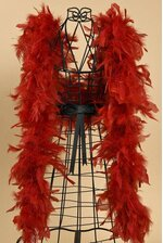 "72"" FEATHER BOAS (60GM) RED"