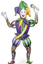 "38"" JOINTED MARDI GRAS JESTER"