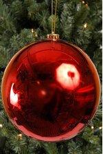 200MM SHINY PLASTIC BALL RED