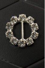 23MM ROUND DIAMOND ROBBON BUTTON CRYSTAL PKG/6