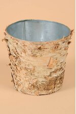 "5.5"" X 5"" BIRCH POT W/ZINC NATURAL"