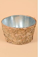 "6.5"" X 3.5"" BIRCH POT W/ZINC NATURAL"