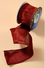 "2.5"" X 10YDS WIRED ANISHA RIBBON WINE"