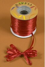 100YDS PEARLIZED RAFFIA RED