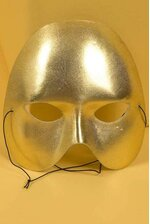 "7"" X 6"" HALF FACE MASK GOLD"