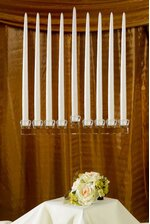 """11"""" X 14.5"""" CRYSTAL 9-LITE CANDLE HOLDER"""