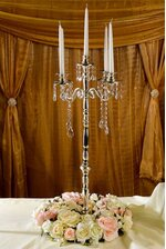 """32.5"""" CANDLE HOLDER 5-LITE SILVER PLATED"""