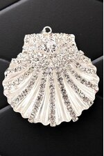 "2"" SHELL RIBBON BUTTON CRYSTAL"
