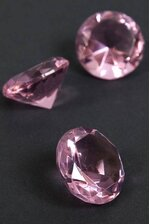 "1.25"" CRYSTAL DIAMOND PINK PKG/12"